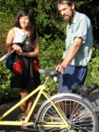 Creators of the Greenhouse-a-go-Grow bike - Colin and Huong